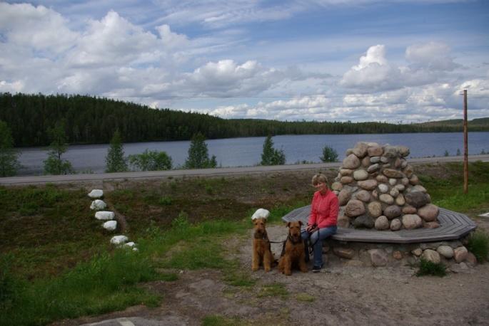 Rast am Polarkreis in Schweden