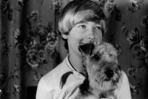 """Mein 1. Hund, die Lakeland-Terrier Hündin """"Daisy von der Waldkirche"""". Ich war überglücklich, mit ihr ging ein Kindertraum in Erfüllung."""
